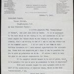 Alice N. George to J.M. Taylor (7 October 1912)