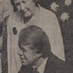 Hazel Hunkins Hallinan (Class of 1913) with President Jimmy Carter at Equal Rights Amendment event. New York Times (27 August 1977)