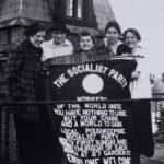 Photograph, Vassar Socialists (Eleanor Taylor, Frances Wood, Katrina Brewster, Marjorie Jones, Gertrude Falkes; all Class of 1916), (March 1916)
