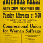 Suffrage rally poster (1915)